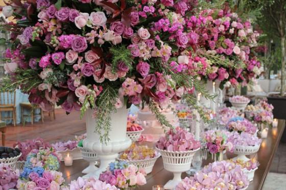 decoração rosa e azul